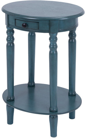 "Bayden Hill Wd Oval Accent Table 27""H, 20""W - Peazz.com"