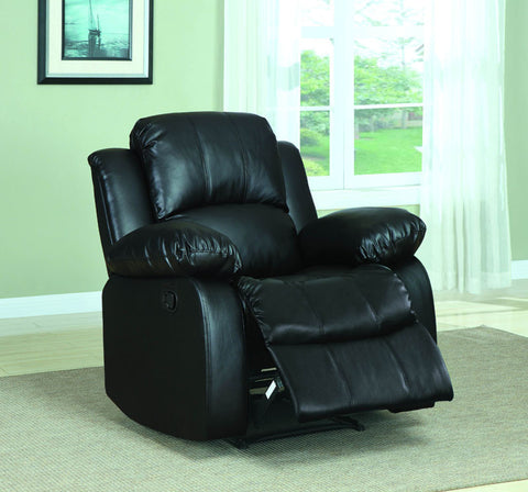Homelegance 9700BLK-1PW Cranley Collection Color Black Bonded Leather Match - Peazz.com - 1