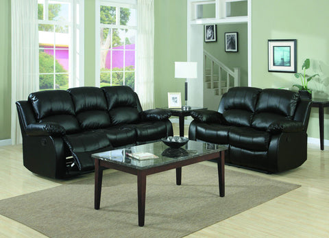 Homelegance 9700BLK-2PW Cranley Collection Color Black Bonded Leather Match - Peazz.com - 1