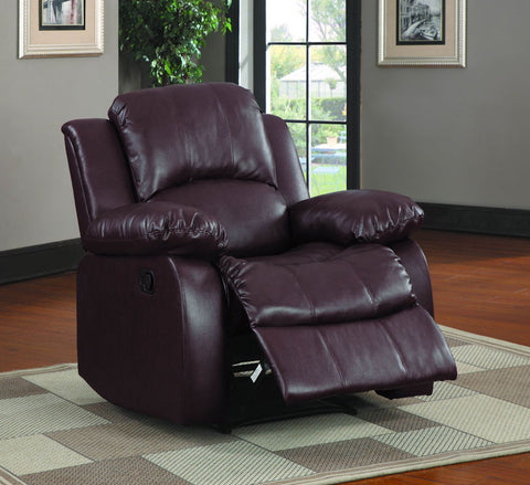 Homelegance 9700BRW-1PW Cranley Collection Color Brown Bonded Leather Match - Peazz.com - 1
