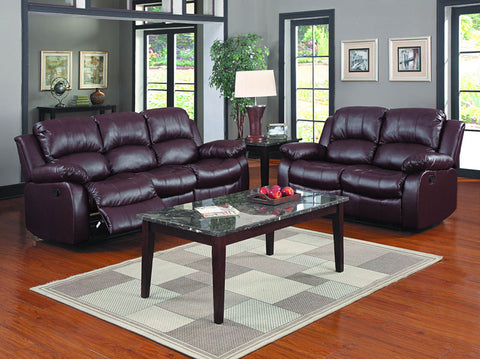 Homelegance 9700BRW-2PW Cranley Collection Color Brown Bonded Leather Match - Peazz.com - 1