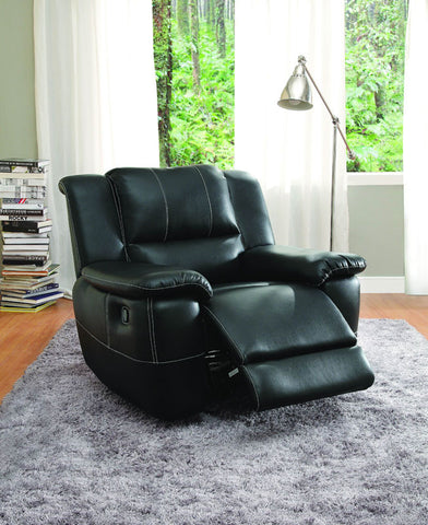 Homelegance 9778BLK-1 Cantrell Collection Color • Black Bonded Leather Match - Peazz.com - 1