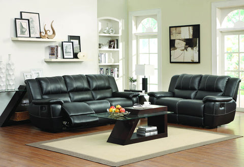 Homelegance 9778BLK-2 Cantrell Collection Color • Black Bonded Leather Match - Peazz.com - 1