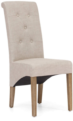 Zuo Modern 98070 Hayes Valley Dining Chair Color Beige Oak Wood Finish - Set of 2 - Peazz.com - 1