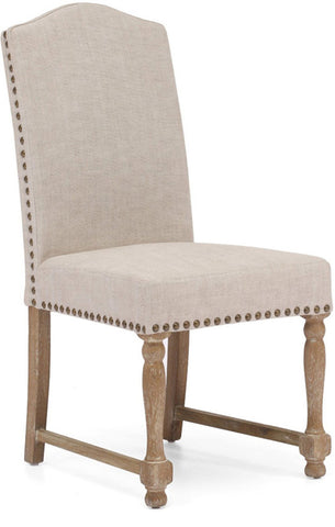 Zuo Modern 98072 Richmond Dining Chair Color Beige Oak Wood Finish - Set of 2 - Peazz.com - 1
