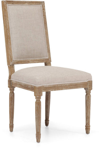 Zuo Modern 98074 Cole Valley Dining Chair Color Beige Oak Wood Finish - Set of 2 - Peazz.com - 1