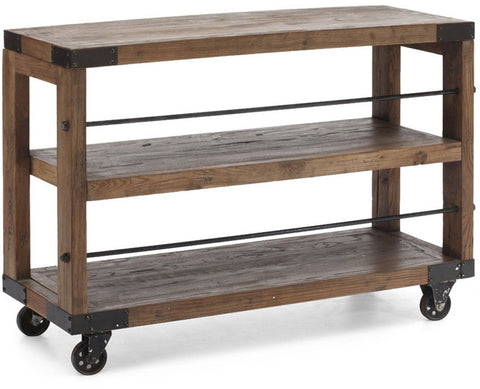 Zuo Modern 98100 Fort Mason Shelf Color Distressed Natural Metal Finish - Peazz.com - 1