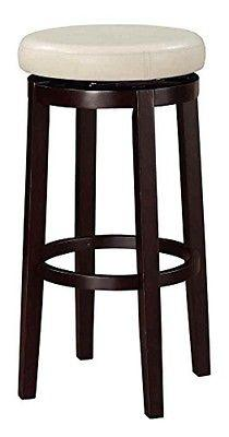 "Linon 98353KRIC-01-KD Maya Rice 29"" Bar Stool"