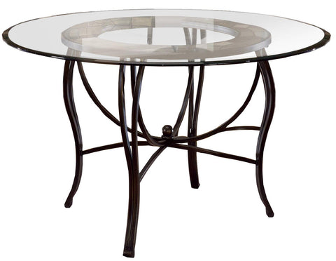Hillsdale 4442-810 Pompeii Metal Dining Table Base - Slate Top