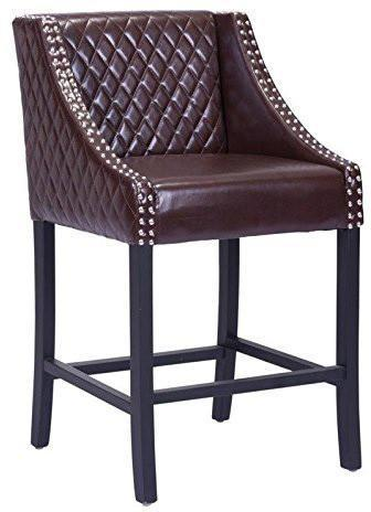 Zuo Modern 98606 Santa Ana Counter Chair Color Brown Oak Wood Finish