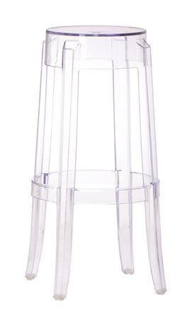 Zuo Modern 106106 Anime Barstool Color Transparent Polycarbonate Finish