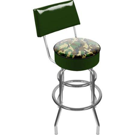 Adg Source Hunt1100-Camo Hunt Camo Padded Swivel Bar Stool With Back