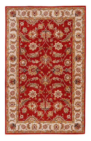 Jaipur Rugs RUG102991 Hand-Tufted Oriental Pattern Wool Red/Taupe Area Rug ( 9x12 )