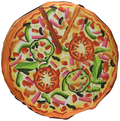 Scoochie Pet 502 New York Pizza 7 Inch Tough Dog Toy