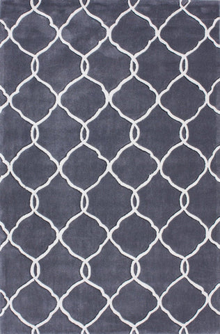 Nuloom ACR128A-36056 Cine Collection Slate Finish Hand Tufted Linx Area Rug - Peazz.com