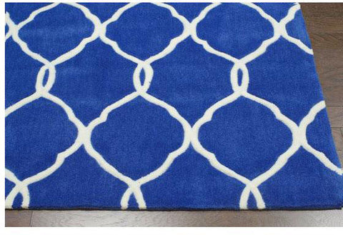 Nuloom ACR128D-508 Cine Collection Navy Finish Hand Tufted Linx Area Rug - Peazz.com