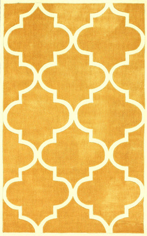 Nuloom ACR129B-606S Cine Collection Mustard Finish Hand Tufted Fez - Peazz.com