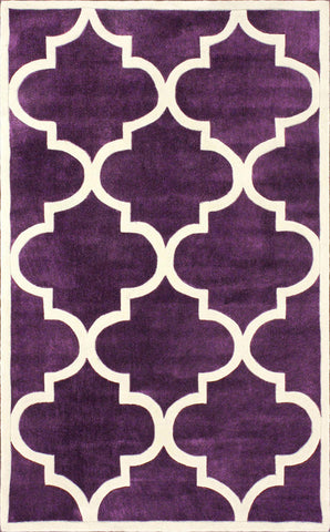 Nuloom ACR129D-83011 Cine Collection Purple Finish Hand Tufted Fez - Peazz.com