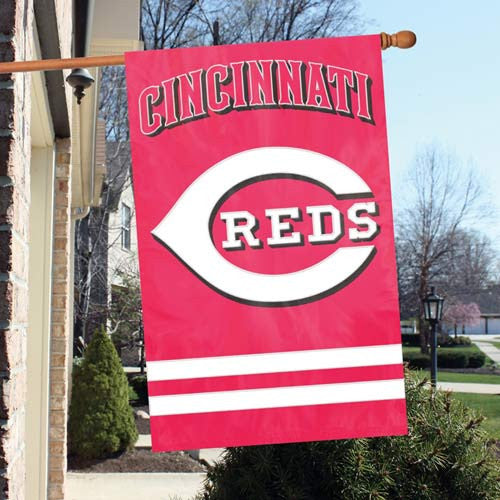 The Party Animal, Inc. AFCIN Cincinnati Reds Appliqué Banner Flag