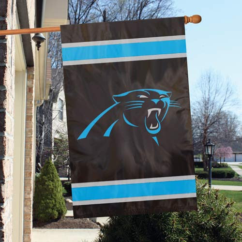The Party Animal, Inc. AFCP Carolina Panthers Appliqué Banner Flag