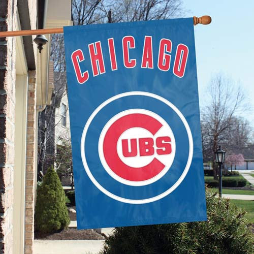 The Party Animal, Inc. AFCUB Chicago Cubs Appliqué Banner Flag