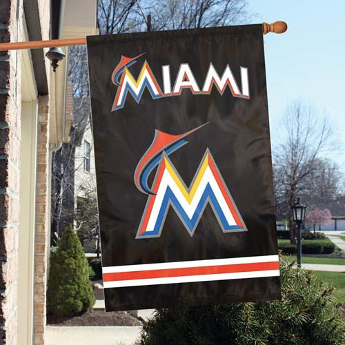 The Party Animal, Inc. AFFLA Miami Marlins Appliqué Banner Flag