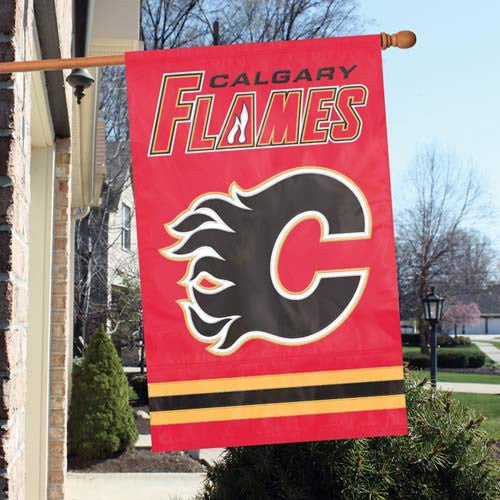 The Party Animal, Inc. AFFLM Calgary Flames Appliqué Banner Flag