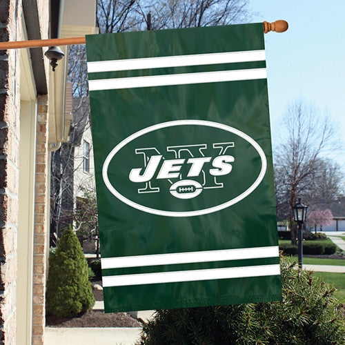 The Party Animal, Inc. AFJE New York Jets Appliqué Banner Flag