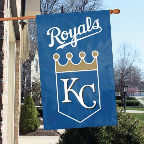 The Party Animal, Inc. AFKCR Kansas City Royals Appliqué Banner Flag