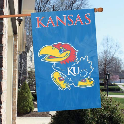 The Party Animal, Inc. AFKS Kansas Jayhawks Appliqué Banner Flag