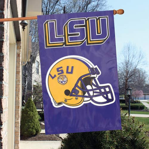 The Party Animal, Inc. AFLSU LSU Tigers Appliqué Banner Flag