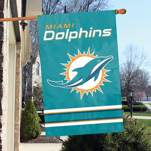 The Party Animal, Inc. AFMD Miami Dolphins Appliqué Banner Flag