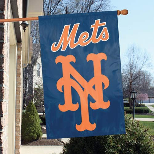 The Party Animal, Inc. AFNYM New York Mets Appliqué Banner Flag