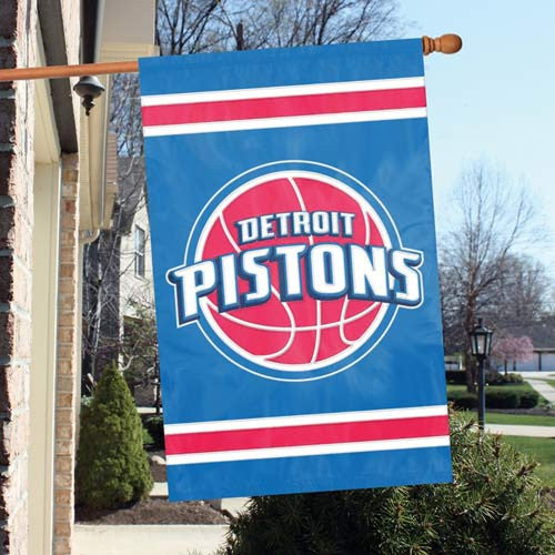 The Party Animal, Inc. AFPIS Detroit Pistons Appliqué Banner Flag PAI-AFPIS