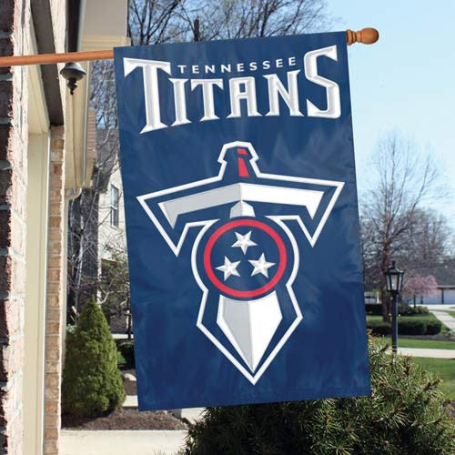 The Party Animal, Inc. AFTE Tennessee Titans Appliqué Banner Flag
