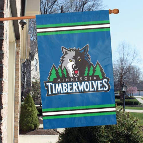 The Party Animal, Inc. AFTIM Minnesota Timberwolves Appliqué Banner Flag PAI-AFTIM