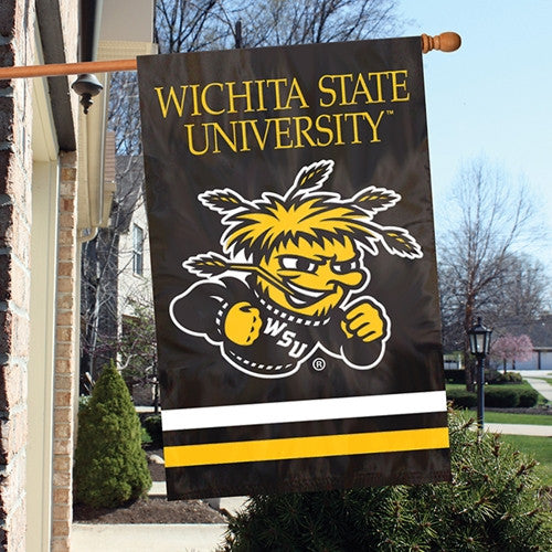 The Party Animal, Inc. AFWSU Wichita State Shockers Appliqué Banner Flag