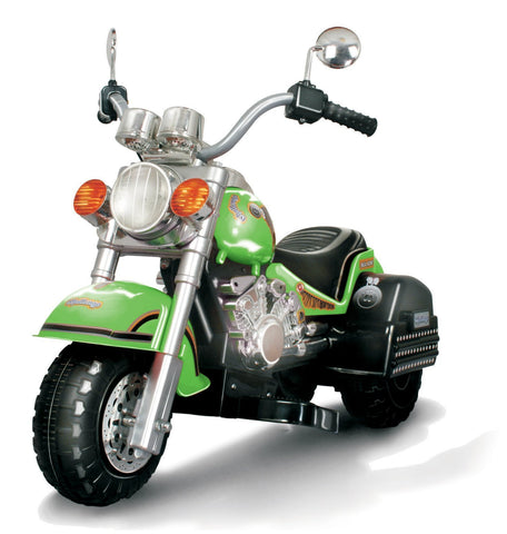 Harley Style Chopper Style Limited Edition Motorcycle - Green - FunRidingToys.com