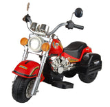 Harley Style Kid's Chopper Style Motorcycle - Red - FunRidingToys.com