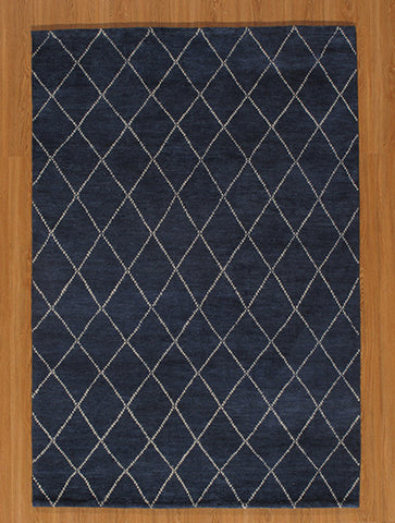 Momeni ATLASATL-5NVY96D6 Indian Hand Knotted Atlas Collection Navy Finish Rugs