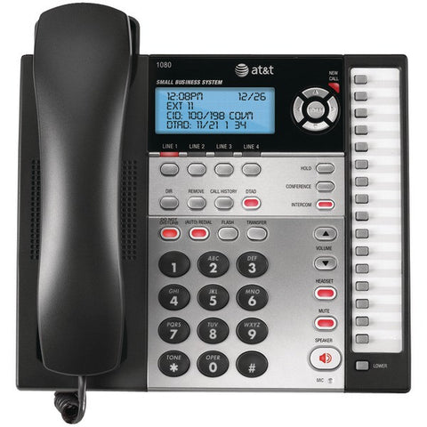 AT&T 1080 4-Line Speakerphone with Answering System, Caller ID & Audio Attendant - Peazz.com