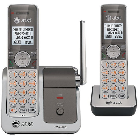 AT&T ATTCL81201 DECT 6.0 Cordless Phone System with Push-to-Talk Between Handsets (2-handset system) - Peazz.com