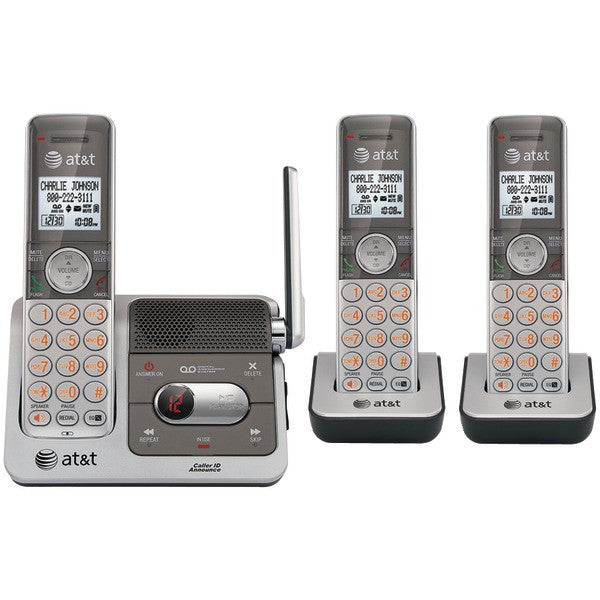 At&t Cl82301 Dect 6.0 Cordless Phone System With Talking Caller Id & Digital Answering System (3-handset System)