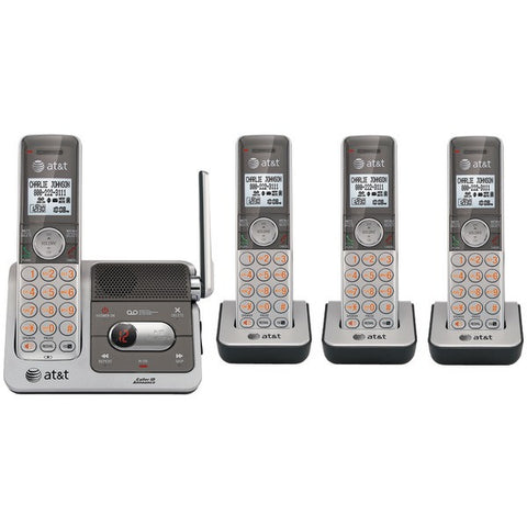 AT&T ATTCL82401 DECT 6.0 Cordless Phone System with Talking Caller ID & Digital Answering System (4-Handset System) - Peazz.com