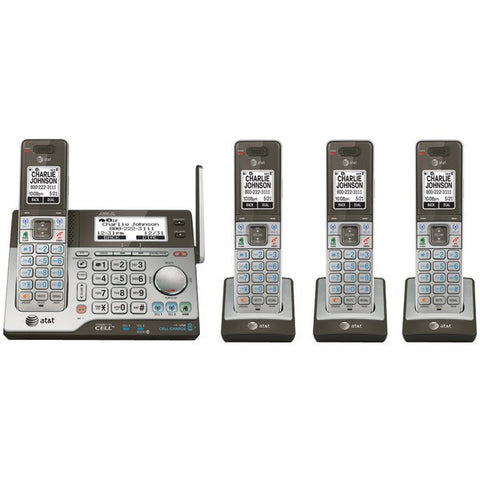 AT&T CLP99483 DECT 6.0 Connect-to-Cell 4-Handset Phone System with Dual Caller ID - Peazz.com