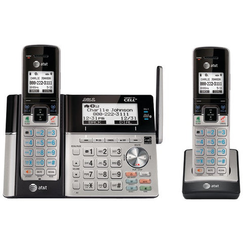 AT&T TL96273 DECT 6.0 Connect-to-Cell 2-Handset Phone System with Dual Caller ID - Peazz.com