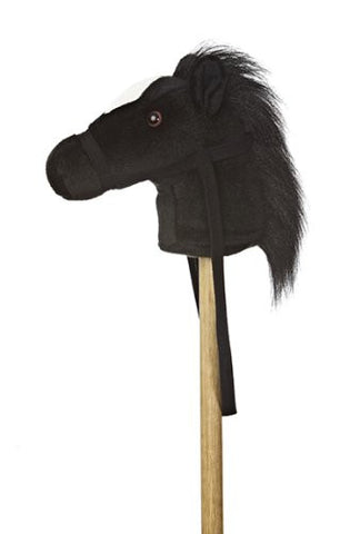 "Aurora 02419 World World Giddy-Up Stick Horse 37"" Plush, Black - Peazz.com"