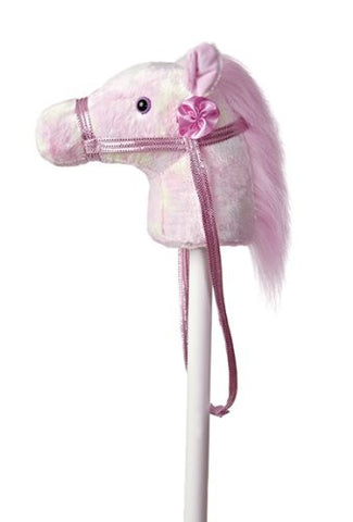 "Aurora 02423 World World Giddy-Up Fantasy Stick Pony 37"" Plush, Rainbow - Peazz.com"