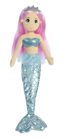 Aurora 33085 World Sea Sparkles Crystal Mermaid Plush - Peazz.com