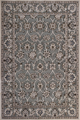 "KAS Rugs Anna 8719 Slate Grey Kashia Machine-Woven Polyester Chenille & Viscose 2'2""X 6'11"" Runner"